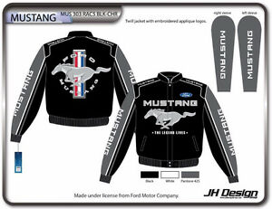 Authentic Ford Mustang Racing Cotton Jacket Black