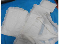 New 3 piece Ivory Crib bedding set can send was £35