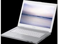 "SONY VAIO VGN-N21Z LAPTOP 15.4"", 1.73GHz DUAL CORE, 2GB, 100GB, WIFI, DVDR, OFFICE, ANTIVIRUS, WIN 7"