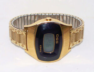 Timex SSQ  1970s digital watch, men's