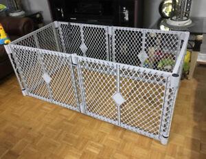 SOLD! Playard-Superyard Safety gate from North States. Grey. $55