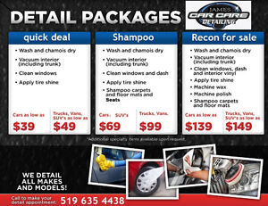 Car Cleaning and Shampoo Deals!, Call or Text James 519 635 4438