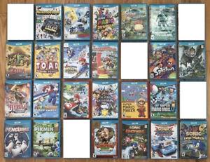 Wii U Games - Mario kart, Smash Bros, Paper Mario, Mario Maker