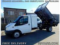 2008 58 FORD TRANSIT TIPPER, DROPSIDE, PICK UP, 59550 MILES! COUNCIL OWNED, FSH