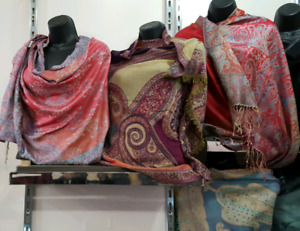 WINTER SHAWLS IN WOOL&VISCOSE FOR SALE.