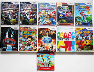 Wii Games - Super Mario Carnival Games etc - $20 and up