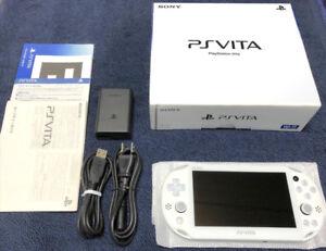 PS VITA - SLIM ( Glacier White Limited Edition ) 3.57 Firmware