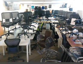 Office Furniture, Mesh chairs, office chairs, office desks, Bench Desk