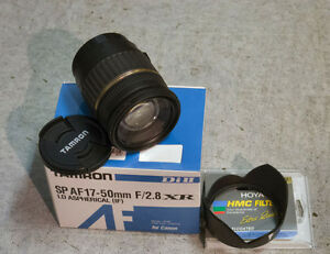 Tamron 17-50 f2.8 XR zoom lens with hood & ND filter