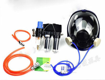 3 In1 Safety Painting Spray Supplied Air Fed Respirator System 6800 Gas Mask