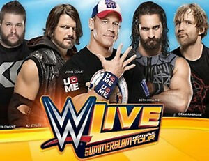 WWE LIVE CENTRE BELL 5 AOÛT 4 BILLETS 5e RANGÉE FACE AU RING !!!