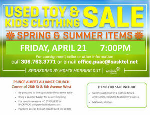 Spring Children's Used Clothing and Toy Sale