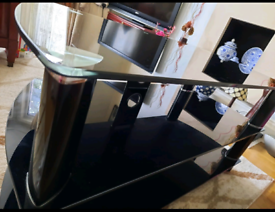 TV Trolley - Black, Glass Made, Very Good Condition