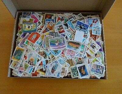 1000 gramm Briefmarken papierfrei - papierfreie Kiloware - viele Motive
