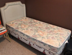 Twin Mattress,boxspring,frame and headboard-Good Condition