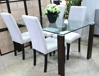 NEW DINING SET- TABLE AND 4 CHAIRS FOR ONLY $530