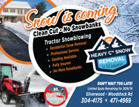 Snow Blowing w/ Tractor - Snow Removal - No More Snowbanks