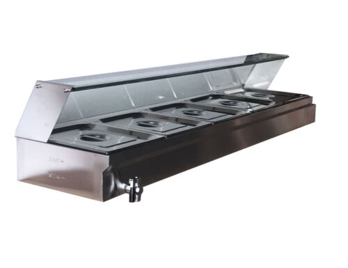 Brand New 5-Pan Bain-Marie Buffet Steamer Countertop Food Warmer Steam Table US
