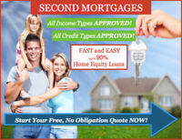 SECOND MORTGAGES WITH NO CREDIT/NO INCOME REQUIRED