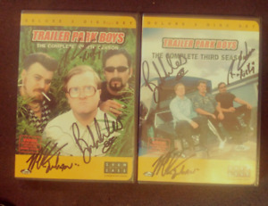 Two signed Trailer Park Boy's DVD's