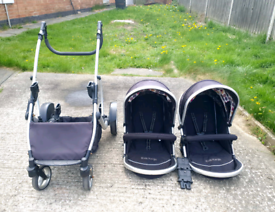 Kids Kargo Double Pushchair with Rain covers