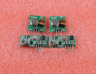 Wisely New 2pcs 2 Sets 433mhz Rf Transmitter And Receiver Kit For Arduino Hi
