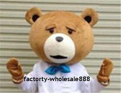 Advertising Teddy Bear Of Ted Teddy Bear Head Mascot Cartoon Costume (Only Head)](Bear Mascot Head Only)