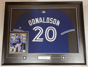 JOSH DONALDSON Toronto Blue Jays Deluxe Framed 42x34 Autographed