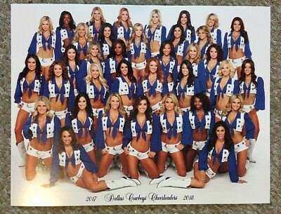Official 2017-2018 DALLAS COWBOYS CHEERLEADERS Picture Photo DCC - Dallas Cowboys Cheerleader