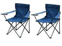 2 X BLACK FOLDING CAMPING CHAIR FISHING BEACH SEAT GARDEN OUTDOOR FOLDABLE + BAG