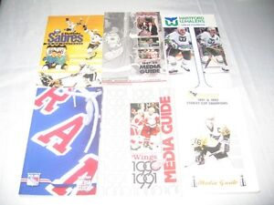 sports media guides and other memorabalia items