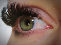 Classic and Volume 2-6 D eyelash extensions.