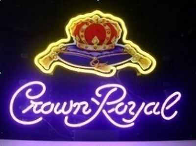 "New Crown Royal Whisky Bar Pub Neon Sign 18""x14"""