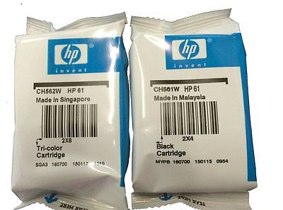 HP 61 Combo 2Pack  Ink Cartridges Black and Color NEW SEALED BAG