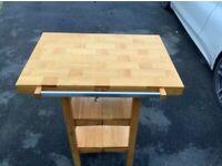 Oasis Folding Kitchen Island Work Table