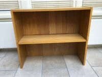 Oak veneer height extension units for 80 cm wide Ikea Billy bookcase