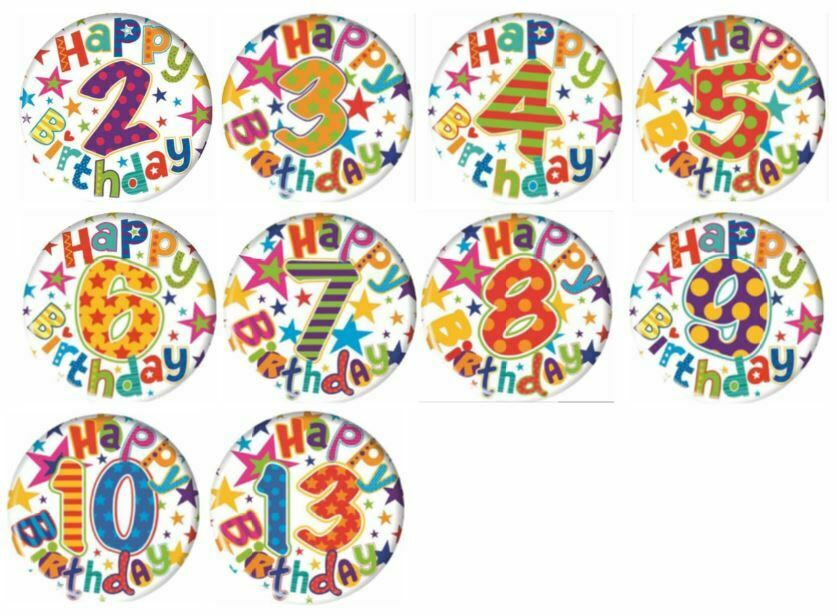 AGE 2 BOY Birthday Badge Age 2 Happy Birthday