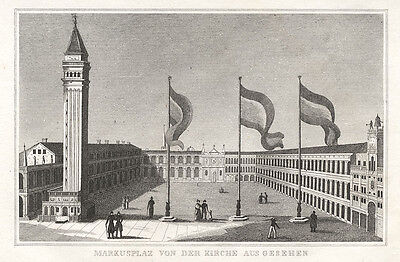 Venedig/Venezia/Venice : Markusplatz/Piazza San Marco. - Kupferstich, 1835