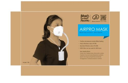 BROAD AirPro Mask Rechargeable Powered AirPurifying Respirator