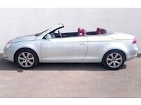 VW Eos 3,2 V6 DSG Automat hard top convertible sports car for quick sale.