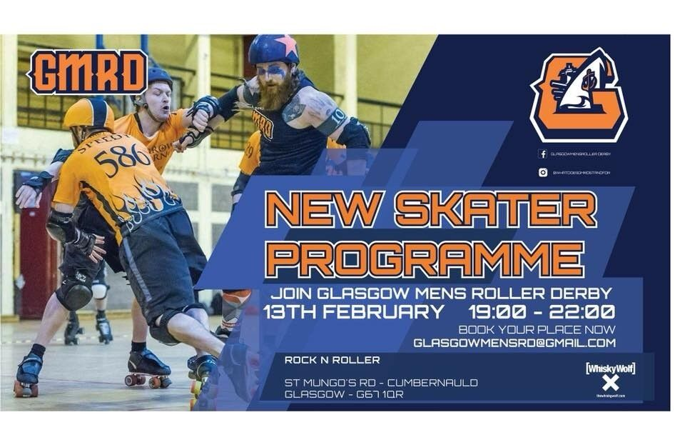 New Year, New Sport? Glasgow Men's Roller Derby Needs You! New Skater Intake 13th Feb 2018