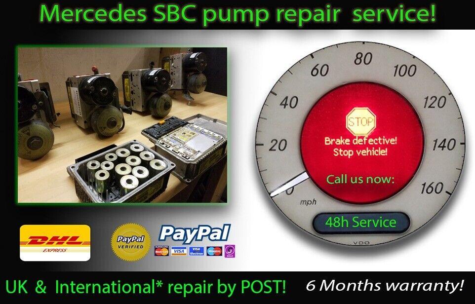 Mercedes SBC Pump Repair Rebuild Reprogram SERVICE BRAKE
