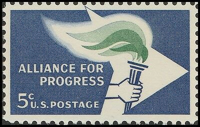 Us 1234 Alliance For Progress 5C Single Mnh 1963