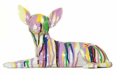 "Interior Illusions Plus Graffiti Chihuahua Dog Laying - 11"" long"