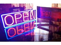 "LED Neon Style ""OPEN"" Sign"