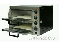 """Commercial Electric Double Deck Stone pizza oven 2 x 16"""" catering equipment. Brand New"""