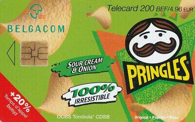 L2 ) telecarte  200 francs pringles cream & inion(snack pringles 50 gr) PK367110