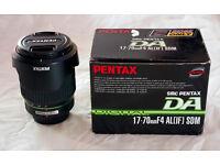 Pentax SMC DA 17-70mm f/4 AL [IF] SDM lens for DSLR, K-5, K-3 etc. Hardly used, boxed