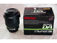 Pentax SMC DA 17-70mm f/4 AL [IF] SDM DSLR lens. Hardly used, boxed. May swap for Sigma 10-20mm
