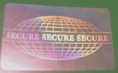 5006 Id Overlay Hologram Tamper Proof Security Protection Pass Badge Credit Card